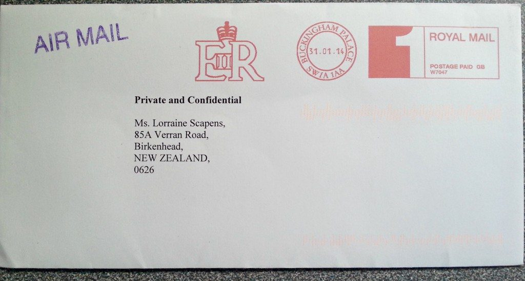 Letter from the Duchess of Cambridge