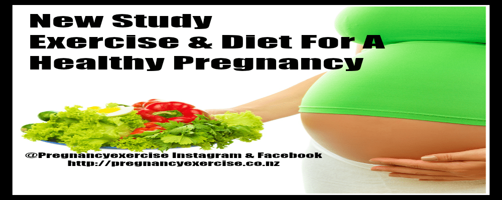 Exercise and diet for a healthy pregnancy