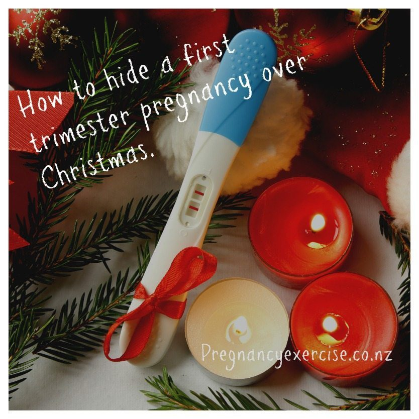 how to hide your first trimester pregnancy