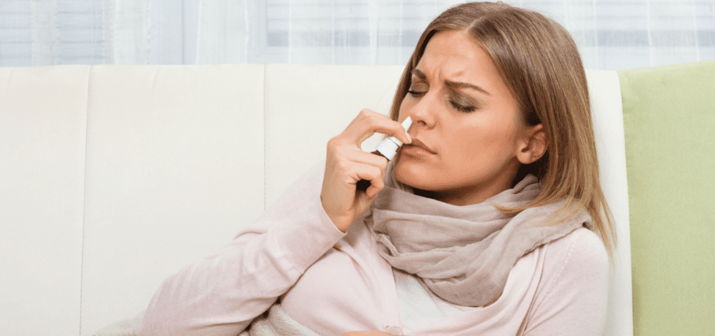 Pain relief during labour, nasal spray
