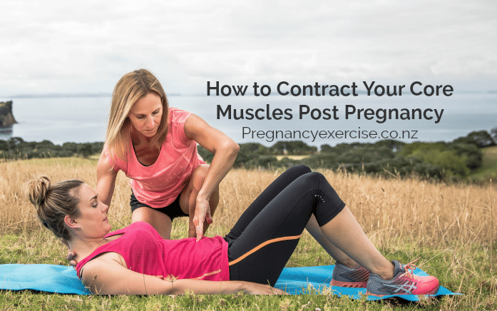 How to contract the core muscles post pregnancy