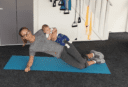 fit mum workout with baby