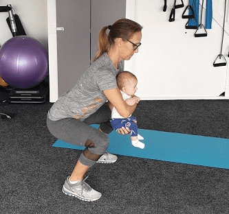 New mum Workout with baby