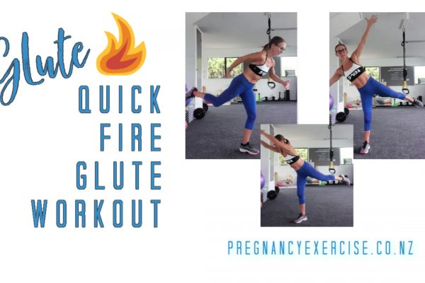 Glute workout suitable during pregnancy and beyond